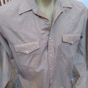 Vintage Pearl Snap Saddlebrook Western Shirt L